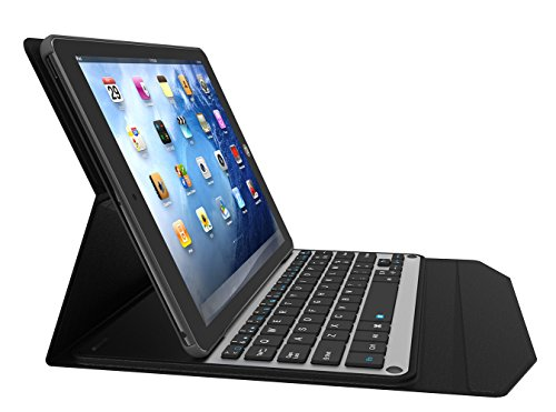PopSky iPad Pro 10.5 キーボードカバー 2017 新型iPad Pro 10.5 Bluetooth キーボードケース 脱着式 スタンド機能付き 超薄 iPad Pro 10.5用 保護ケース Bluetooth keyboard case (iPad Pro 10.5, ブラック)