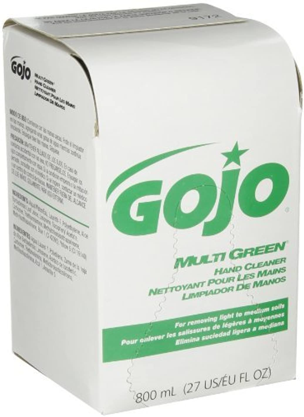 賞約消費GOJO 800 Series MULTI GREEN Hand Cleaner,with Natural Pumice Scrubbers,800 mL Hand Cleaner Refill for 800 Series...