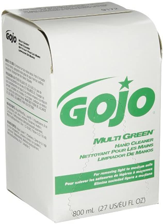 動機付ける時期尚早いたずらなGOJO 800 Series MULTI GREEN Hand Cleaner,with Natural Pumice Scrubbers,800 mL Hand Cleaner Refill for 800 Series...