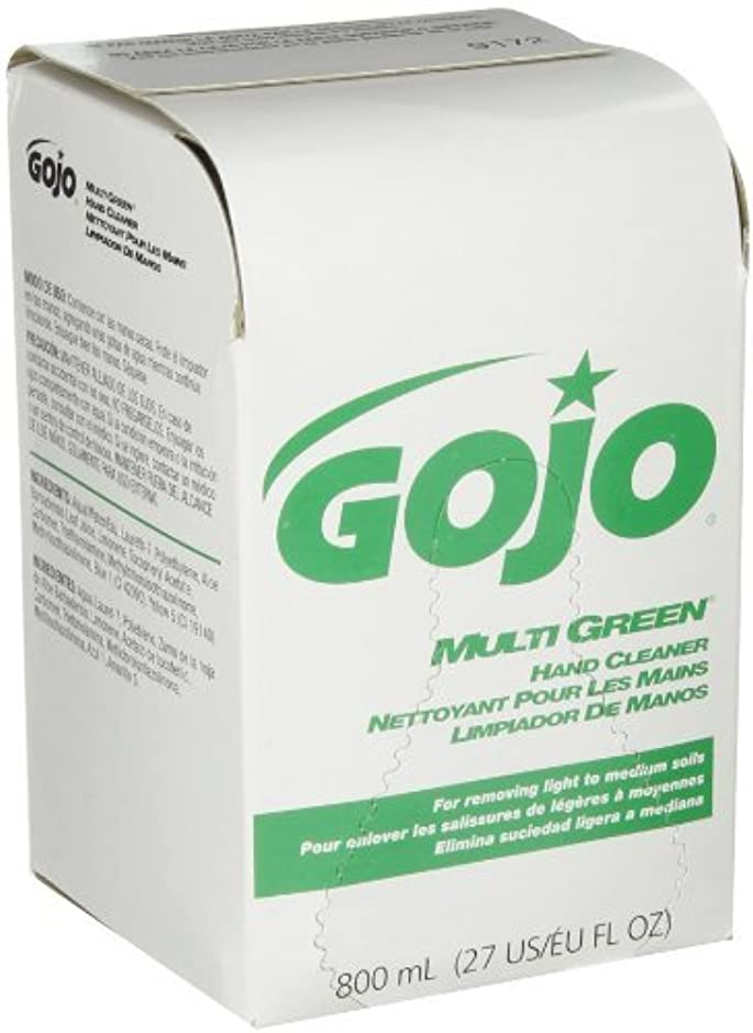 GOJO 800 Series MULTI GREEN Hand Cleaner,with Natural Pumice Scrubbers,800 mL Hand Cleaner Refill for 800 Series...
