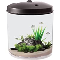 AquaTunes 3.5 Gallon, 180 View Fish Aquarium, Plays Music, MP3 Player and Speaker Included by KollerCraft
