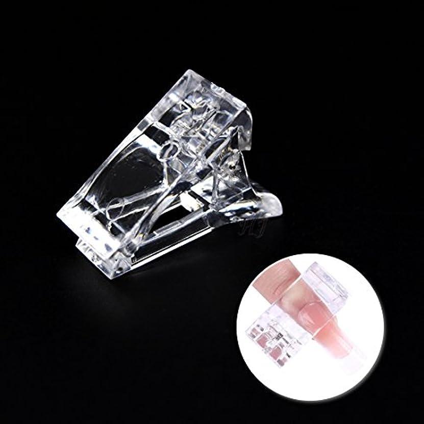 販売員共役発言するHoney Joy ポリ ゲル クイック ビル ネイル チップ クリップ プラスチック 指 エクステンション UV LED ビルダー ネイル ジェル アシスタント ツール パック 5、 HJ-NAT132