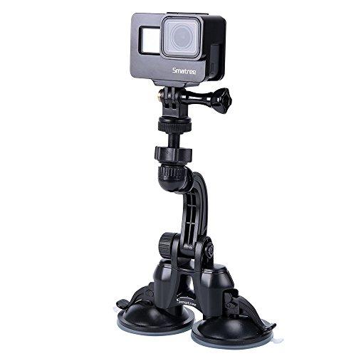 Smatree 車載ホルダー GoPro/MUSON/SJ4000/ 1/4 ネジ穴のコンパクトカメ...