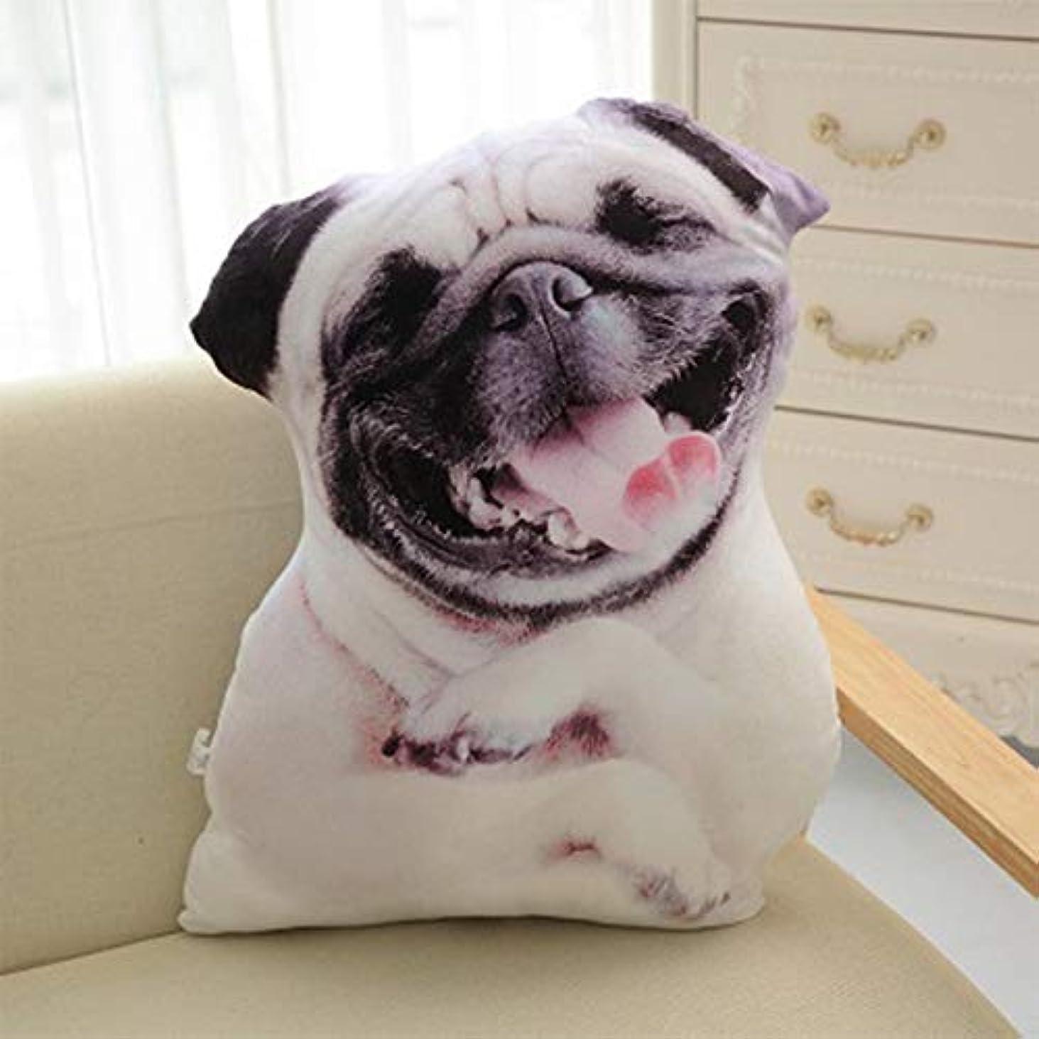 コード段落頬骨LIFE 3D プリントシミュレーション犬ぬいぐるみクッションぬいぐるみ犬ぬいぐるみ枕ぬいぐるみの漫画クッションキッズ人形ベストギフト クッション 椅子