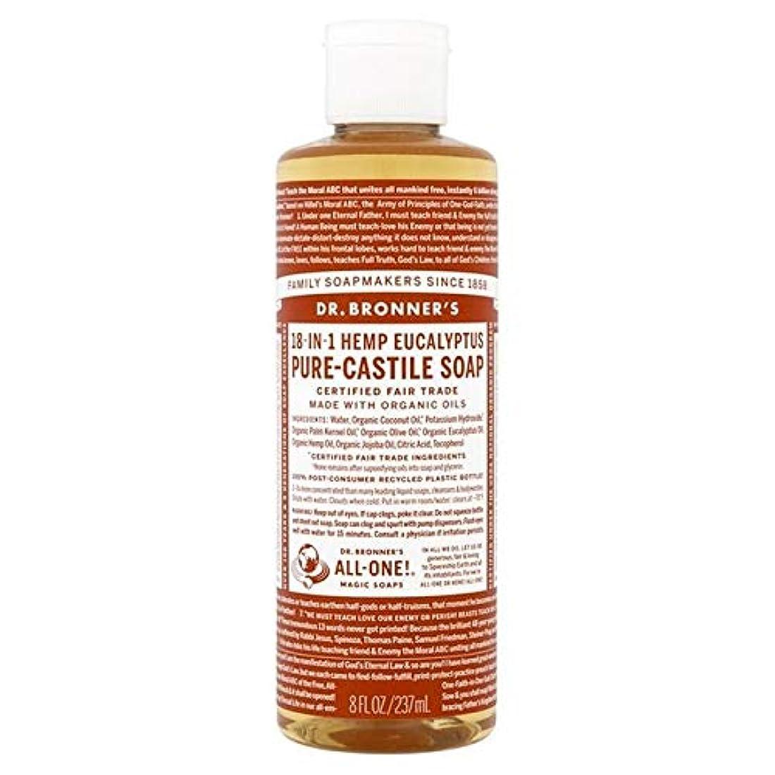 ガス湖長椅子[Dr Bronner] Dr。ブロナーズ有機ユーカリの純粋な-カスティーリャ液体石鹸237ミリリットル - Dr. Bronner's Organic Eucalyptus Pure-Castile Liquid Soap 237ml [並行輸入品]