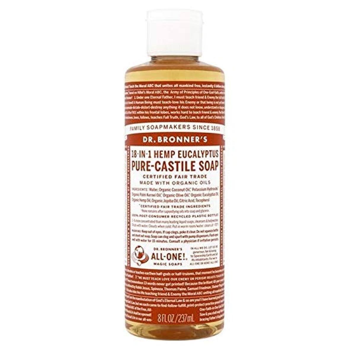 大佐ガラガラ配置[Dr Bronner] Dr。ブロナーズ有機ユーカリの純粋な-カスティーリャ液体石鹸237ミリリットル - Dr. Bronner's Organic Eucalyptus Pure-Castile Liquid Soap...