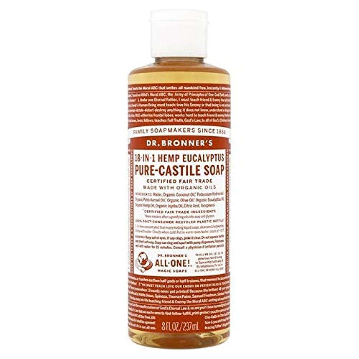 刺激するゆるく報復[Dr Bronner] Dr。ブロナーズ有機ユーカリの純粋な-カスティーリャ液体石鹸237ミリリットル - Dr. Bronner's Organic Eucalyptus Pure-Castile Liquid Soap...