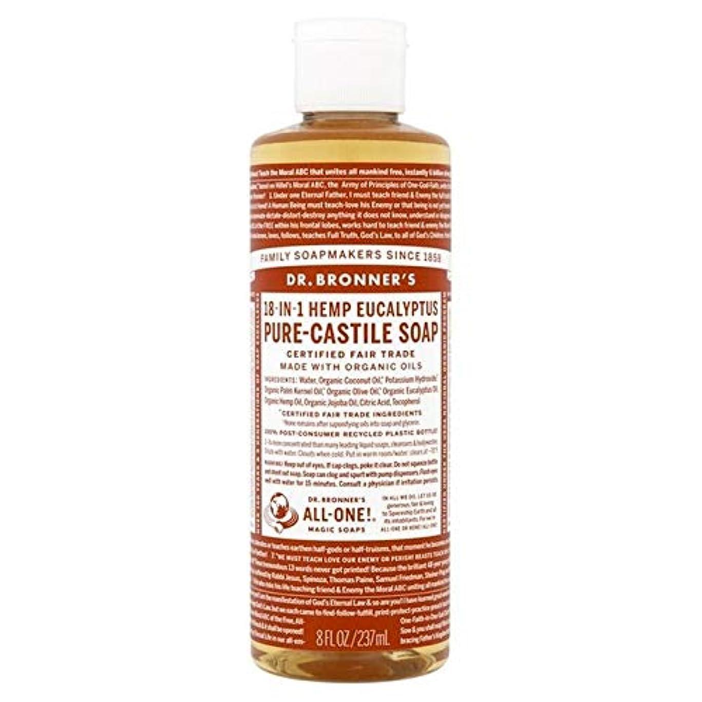 死の顎バックグラウンド森林[Dr Bronner] Dr。ブロナーズ有機ユーカリの純粋な-カスティーリャ液体石鹸237ミリリットル - Dr. Bronner's Organic Eucalyptus Pure-Castile Liquid Soap...