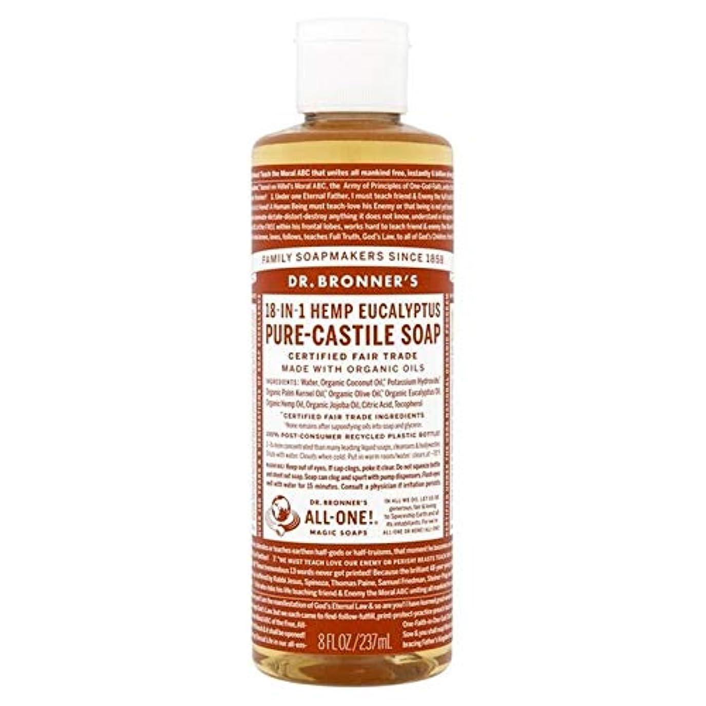 優しさリング病気だと思う[Dr Bronner] Dr。ブロナーズ有機ユーカリの純粋な-カスティーリャ液体石鹸237ミリリットル - Dr. Bronner's Organic Eucalyptus Pure-Castile Liquid Soap...