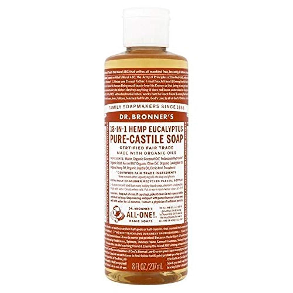 返還泣き叫ぶ風邪をひく[Dr Bronner] Dr。ブロナーズ有機ユーカリの純粋な-カスティーリャ液体石鹸237ミリリットル - Dr. Bronner's Organic Eucalyptus Pure-Castile Liquid Soap...