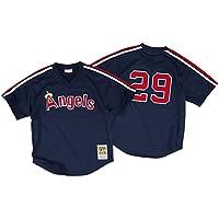 ロッド?カルーCalifornia Angels # 29メンズMitchell & Ness 1984メッシュBatting Practice Jersey
