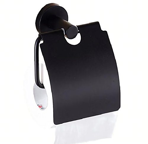 rubitas アンティーク ロール トイレット ペーパー ホルダー カバー 紙巻器 インテリア 北欧 オシャレ (黒)