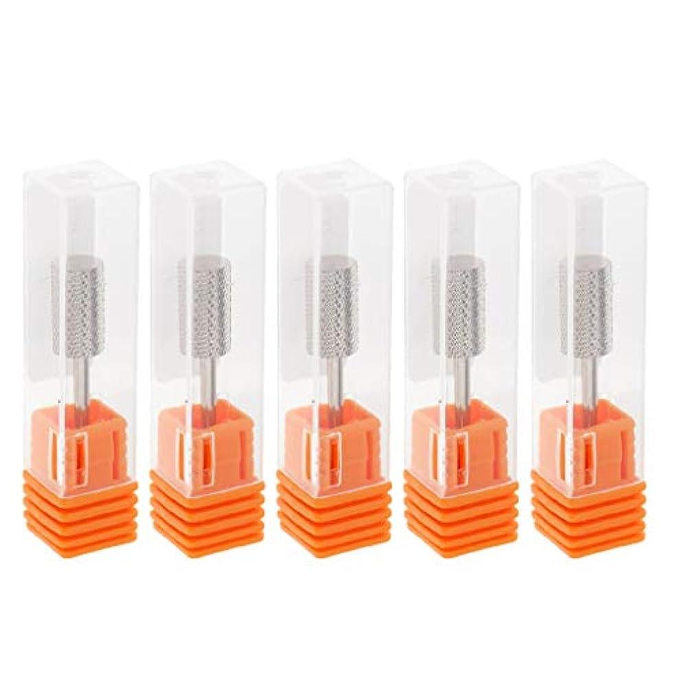 溝病んでいるルーフToygogo 5個入りパック、アクリルネイル用ネイルドリルビットセット、安全キューティクルクリーンジェル除去ツールキット