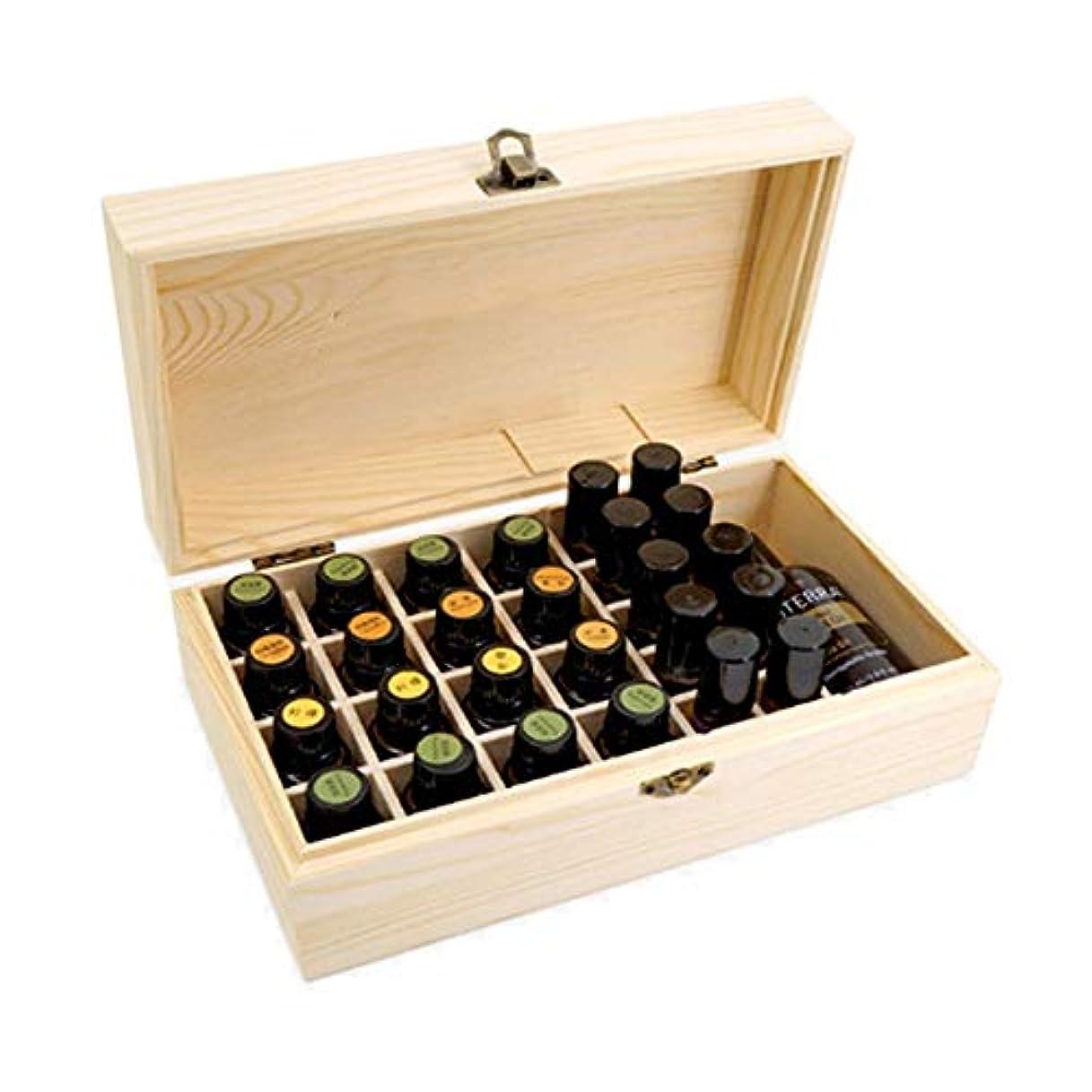 アヒル許容できるブラシキャリングそしてホームストレージディスプレイ用の18スロット木エッセンシャルオイルオーガナイザーストレージボックス金庫 アロマセラピー製品 (色 : Natural, サイズ : 25.5X14.8X9.9CM)