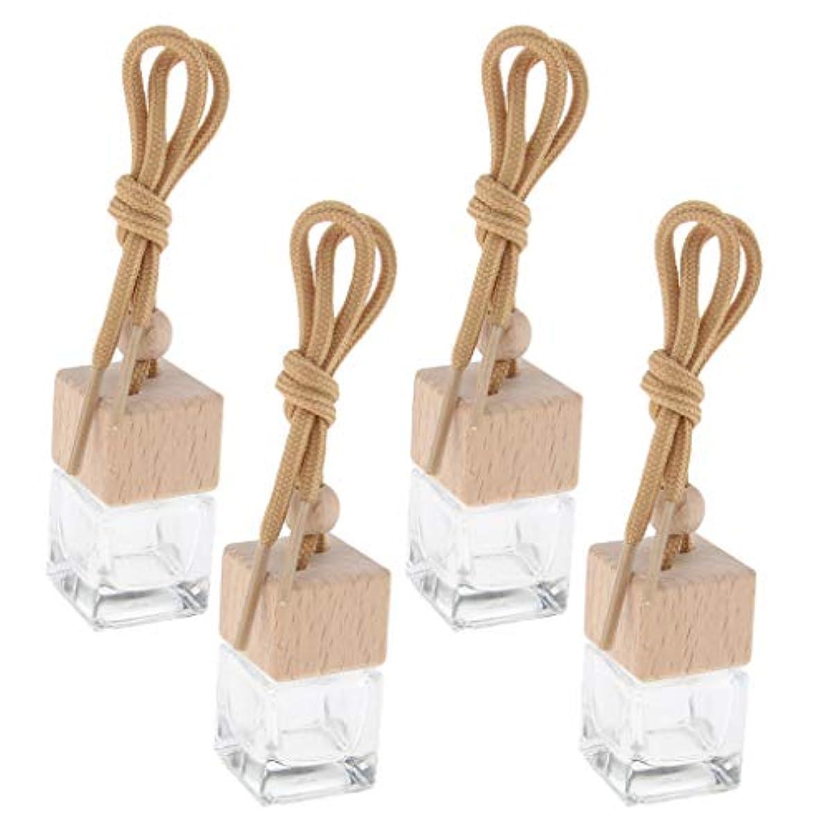線形珍味体系的にsharprepublic 4個6ML車ぶら下げ香水瓶エッセンシャルオイルバイアルペンダント装飾