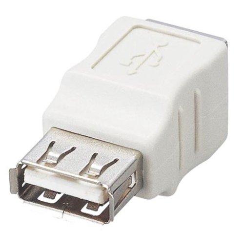 ELECOM USB変換アダプタ USB(B) メス - USB(A) メス AD-USBAFTBF
