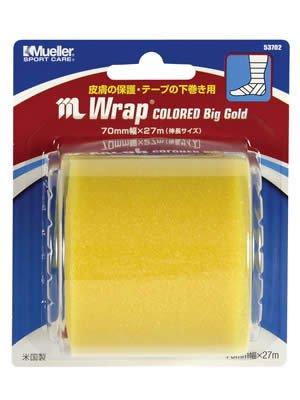 Mueller(ミューラー) Mラップ カラー ビッグゴールド ブリスターパック Mwrap Colored Big Gold Blister Pack 70mm [1個入り] アンダーラップ 53702 ゴールド