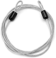 Bike Bicycle Cable Lock Steel Wire Lock Cycling Security Loop Cable Lock Bicycle Bikes Scooter Guard U-Lock - Silver