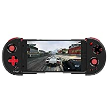 Bluetooth Game Controller for IOS Gamepad for iPhone/iPod/Ipad/Android Gamepad Controller for Phone Smart TV Box Win (Golden) Gamepad (Color : Red)