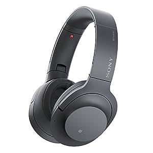 ソニー SONY ワイヤレスノイズキャンセリングヘッドホン h.ear on 2 Wireless NC WH-H900N : Bluetooth/ハイレゾ対応 最大28時間連続再生 密閉型 マイク付き 2017年モデル グレイッシュブラック WH-H900N B