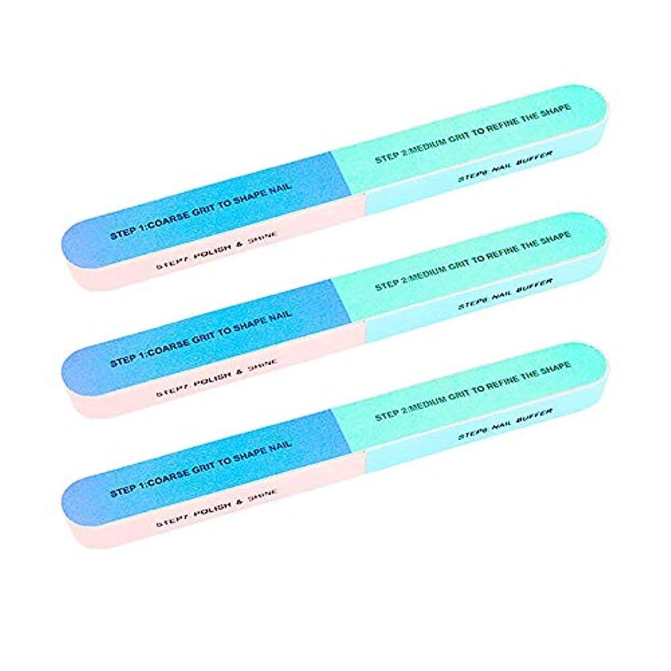 電池にじみ出る毒液3個セットネイルフユニセックスプロのネイルツール多機能 多面も使える 爪ヤスリ