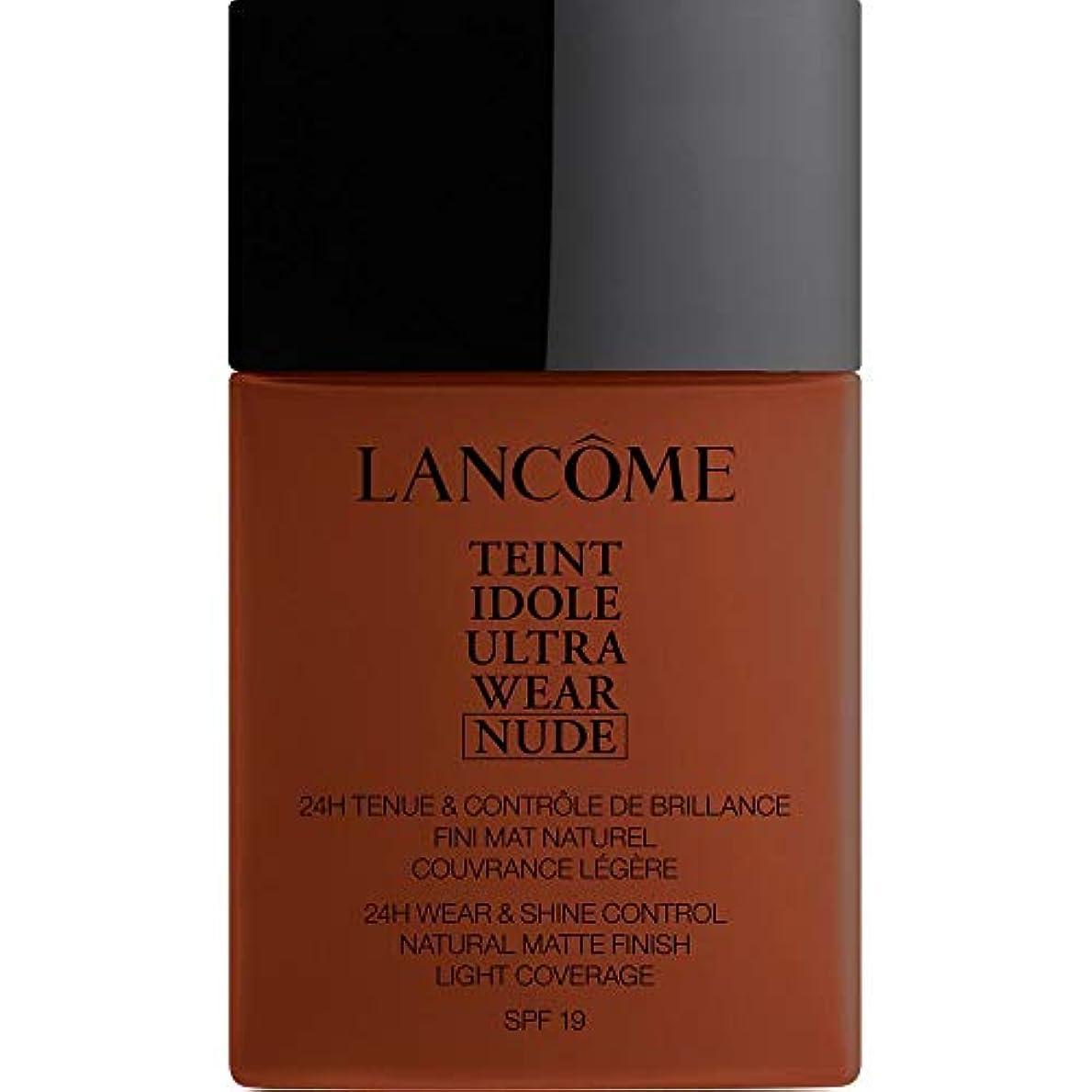 クールエミュレートするしなやか[Lanc?me ] ランコムTeintのIdole超摩耗ヌード財団Spf19の40ミリリットル14 - ブラウニー - Lancome Teint Idole Ultra Wear Nude Foundation SPF19 40ml 14 - Brownie [並行輸入品]