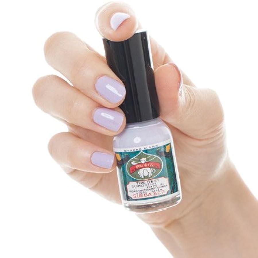 塩廃止する夏胡粉ネイル 藤紫白(ふじむらびゃく)