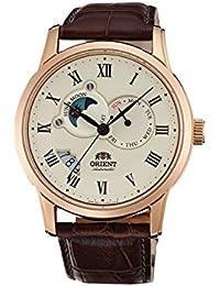 [オリエント] Orient 腕時計 Men's Sun and Moon Analog Display Japanese Automatic Brown Watch 日本製自動巻 FET0T001W0 メンズ 【並行輸入品】