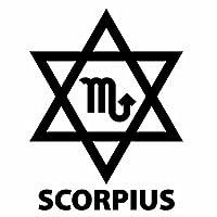 【SCORPIUS(さそり座)Ver.07 カッティングステッカー 2枚組 幅約12.5cm×高約16.5cm】カラー:黒(ブラック)