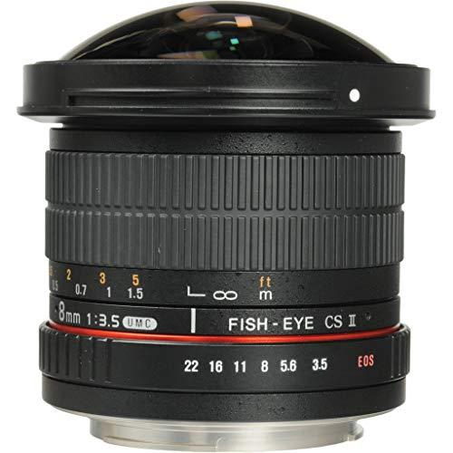 SAMYANG 単焦点魚眼レンズ 8mm F3.5 キヤノン EF用 APS-C用 フード脱着式