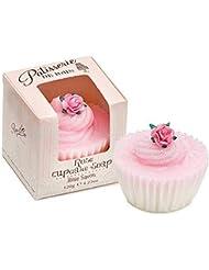 [Patisserie de Bain ] パティスリー?ド?ベインは、カップケーキ石鹸120グラムのバラ - Patisserie de Bain Rose Cupcake soap 120g [並行輸入品]