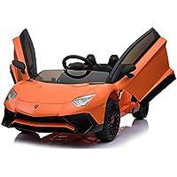 乗用電動玩具 ランボルギーニ?アベンタドールSV(カラー:ブルー)【電動乗用Lamborghini Aventador SV】正規ライセンス品のハイクオリティ 運転操作とプロポで操作可能な電動ラジコンカー 乗用おもちゃ 子供向け乗用玩具