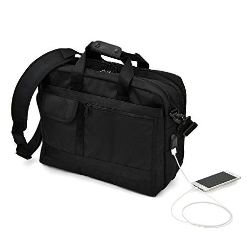 [ヘクサー]2WAY ビジネスバッグ 大容量 B4 サイズ対応 USBポート付き 撥水