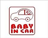 BABY IN CAR 車 赤 カッティングステッカー ウォールステッカー ステッカー シール