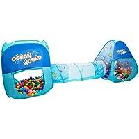 子供の遊びのテントトンネル赤ちゃん遊び家屋内遊園地簡単な折り畳みクロール (Color : Blue, Size : 240 * 150 * 80cm)