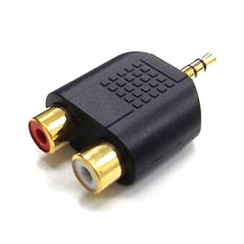 エスエスエーサービス [ ステレオ音声変換コネクタ ] 3.5mmステレオミニ(オス)→ RCA(赤/白・メス) ST35-RCAF