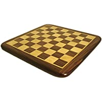 Worldwise Imports Rosewood and Maple Chess Board with 2.2'' Squares