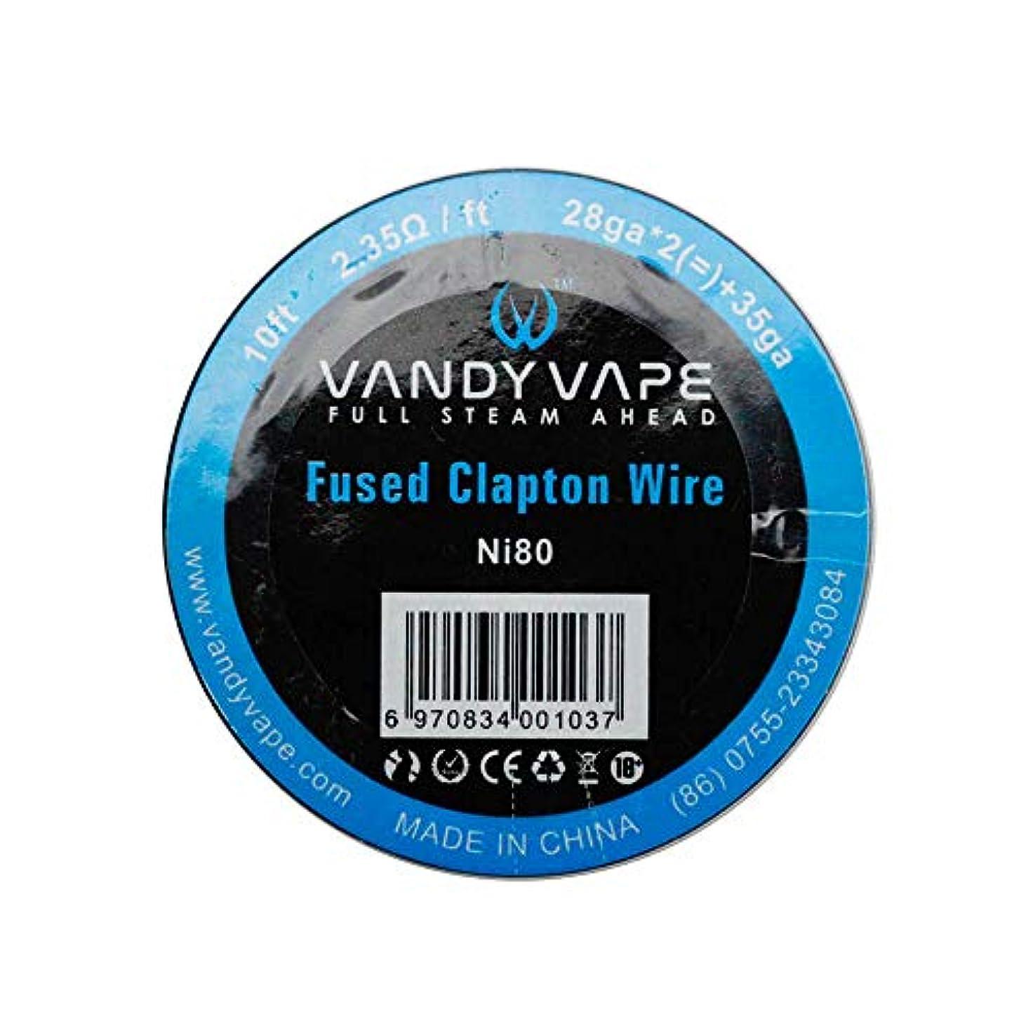 付録セラー罰電子タバコ コイル VANDYVAPE製 交換コイル Vandy vape Ni80 Fused Claton Wire 28ga*2+35ga