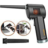 Air Duster for Computer Electronics Cleaning, Cordless, Rechargeable 6000mAh Battery, Powerful 33000RPM, 10W Fast Charging Air Duster Compressed Air