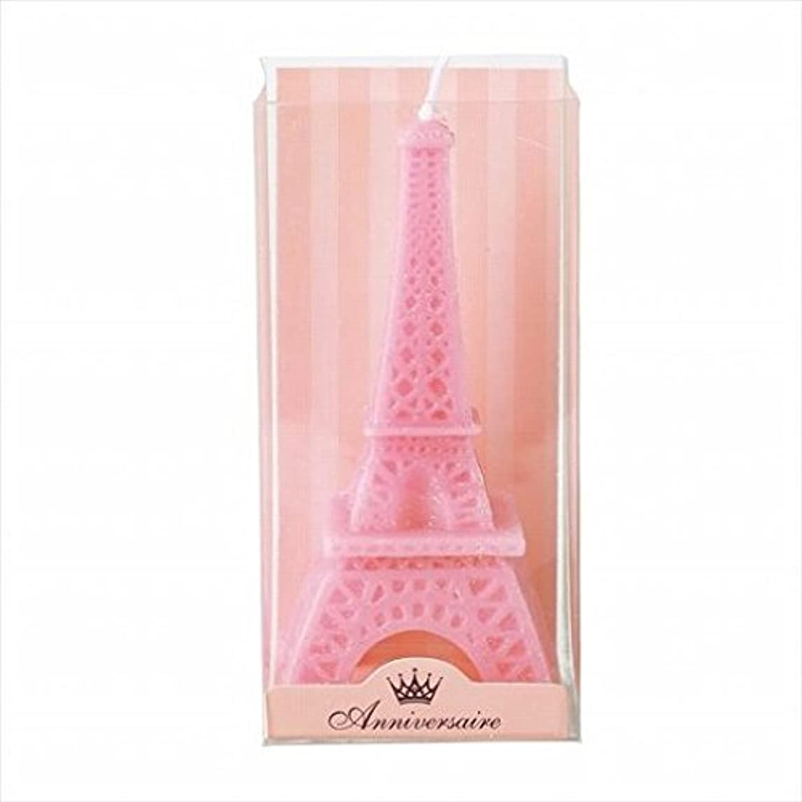 口ひげ雑種許容できるkameyama candle(カメヤマキャンドル) エッフェル塔キャンドル 「 ピンク 」(A5870000PK)