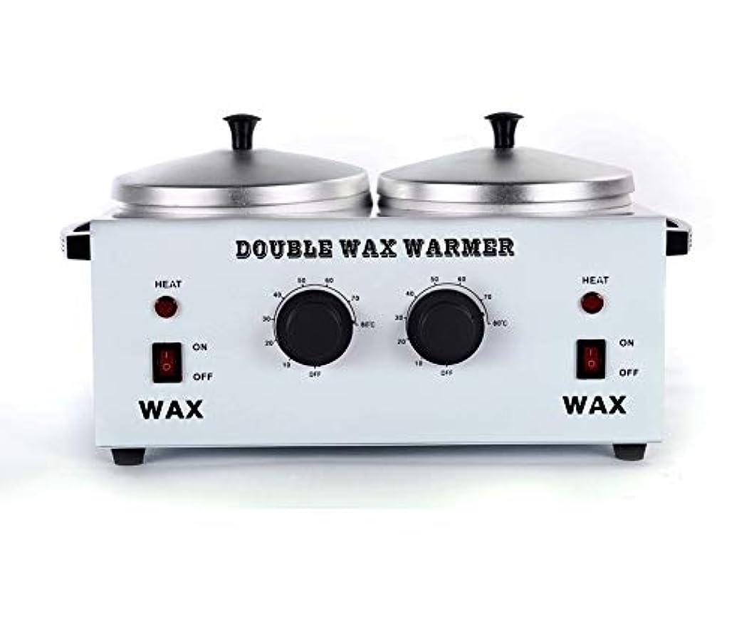 素朴なエンターテインメント乞食ワックスヒータープロフェッショナルダブルポット脱毛ワックスウォーマー、すべてのWAXS(ソフト、ハード、パラフィン)用電動ワックスヒーター機械ファストメルトポータブル人種のるつぼ