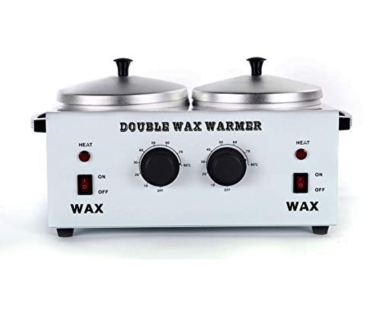 変換するフィクションネットワックスヒータープロフェッショナルダブルポット脱毛ワックスウォーマー、すべてのWAXS(ソフト、ハード、パラフィン)用電動ワックスヒーター機械ファストメルトポータブル人種のるつぼ