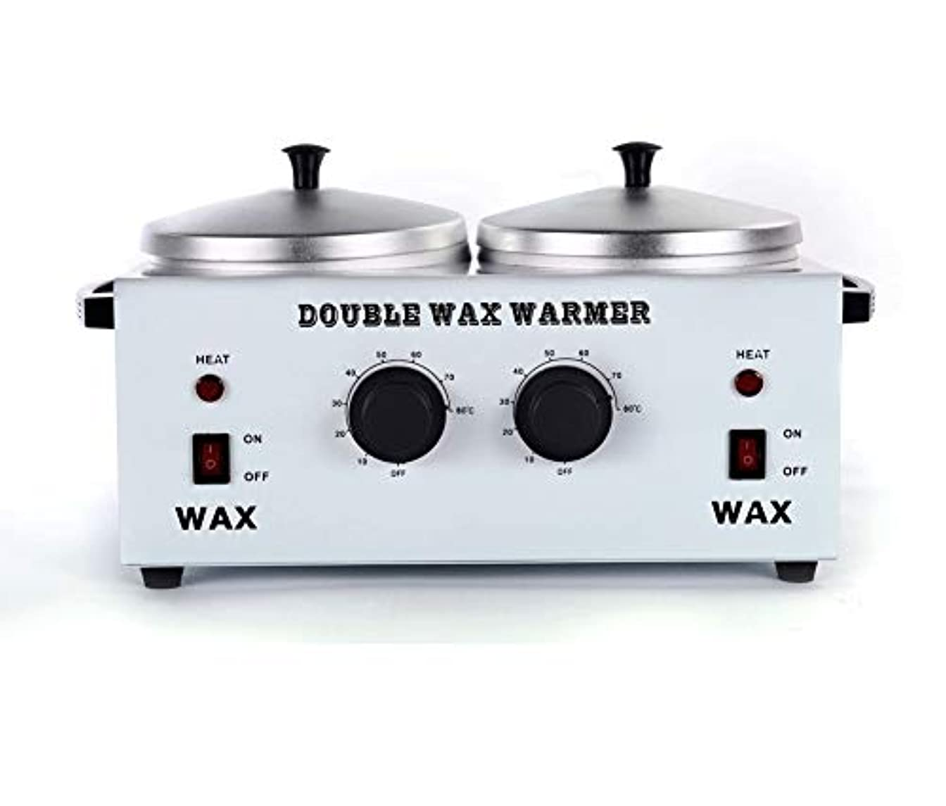 旋律的任命お尻ワックスヒータープロフェッショナルダブルポット脱毛ワックスウォーマー、すべてのWAXS(ソフト、ハード、パラフィン)用電動ワックスヒーター機械ファストメルトポータブル人種のるつぼ