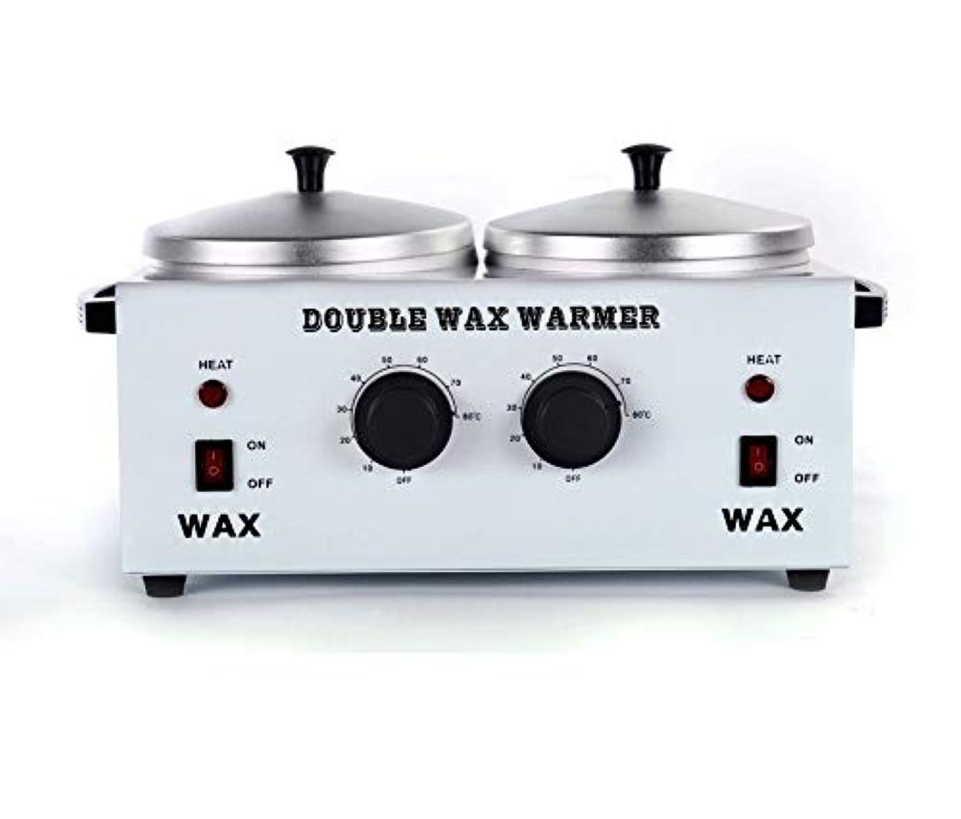 扱う大使館一過性ワックスヒータープロフェッショナルダブルポット脱毛ワックスウォーマー、すべてのWAXS(ソフト、ハード、パラフィン)用電動ワックスヒーター機械ファストメルトポータブル人種のるつぼ