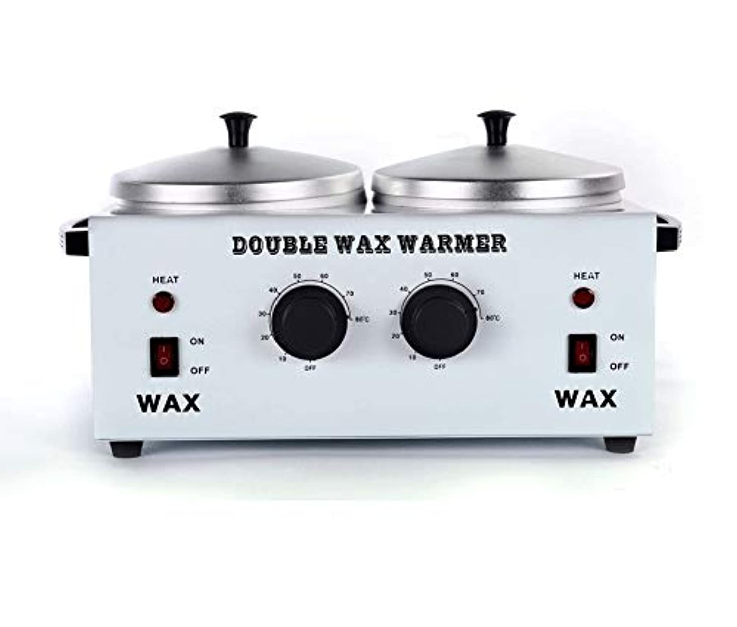レシピ流疲れたワックスヒータープロフェッショナルダブルポット脱毛ワックスウォーマー、すべてのWAXS(ソフト、ハード、パラフィン)用電動ワックスヒーター機械ファストメルトポータブル人種のるつぼ