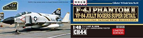 ハセガワ 1/48 アメリカ海軍 F-4J ファントム2 VF-84 ジョリーロジャース スーパーディテール プラモデル CH44