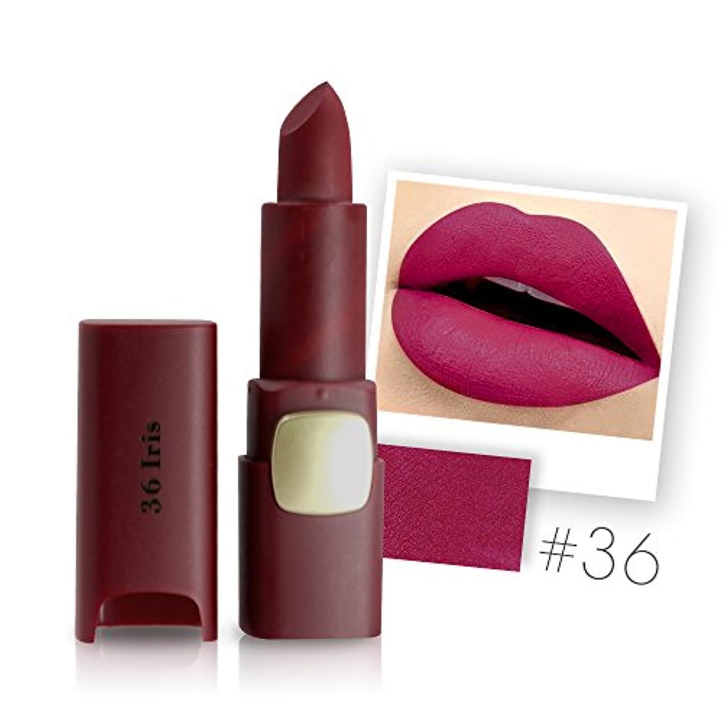 反応するオンコントローラMiss Rose Brand Matte Lipstick Waterproof Lips Moisturizing Easy To Wear Makeup Lip Sticks Gloss Lipsticks Cosmetic