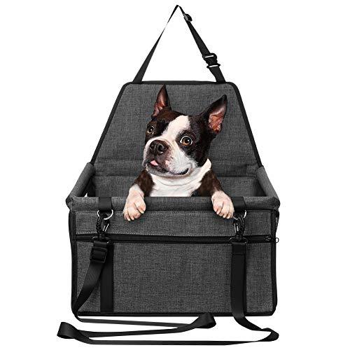 ペット用 ドライブボックス Mersuii 車用ペットシート 防水 通気 水洗い可能 汚れにくい 折り畳み式 飛び出し防止 座席シートカバー 犬 猫 旅行 ペットキャリー (ブラック)