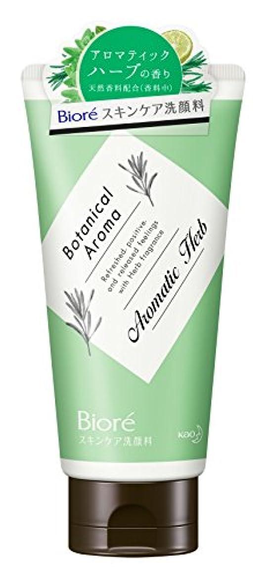 水平コークス支配的ビオレ スキンケア洗顔料 モイスチャー ボタニカルアロマ アロマティックハーブの香り 130g