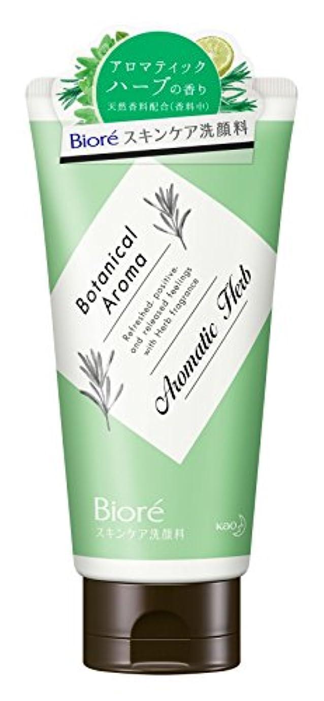 小さいルーム対人ビオレ スキンケア洗顔料 モイスチャー ボタニカルアロマ アロマティックハーブの香り 130g